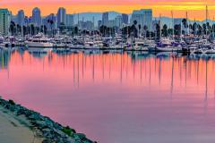 """Harbor Drive Sunrise in San Diego"""