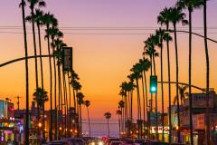 """Newport Avenue, Ocean Beach Sunset"""