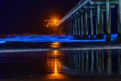 """Scripps Pier Bioluminescence in San Diego, CA"""