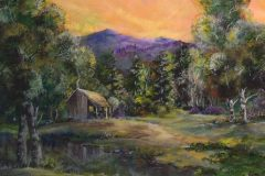 """Iris Lake and Cabin"""