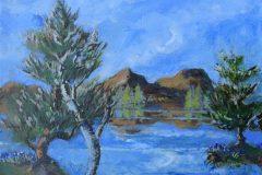 """Magic Mountains by Lake"""