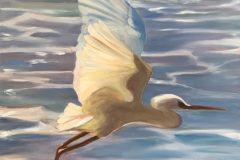 """Egret Flying"""