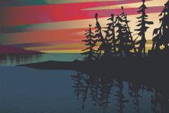 """""""Sunrise on Lake Sakami"""""""