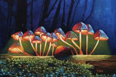 """Nightlight glowing mushrooms"""