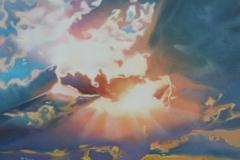 """Sunbeam through clouds"""